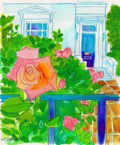 Fine Art Daily - August 12, 2014. Let's Go to London! Magical roses.http://jeandsanders.blogspot.com/2014/08/fine-art-daily-august-12-2014.html … #london #gardens #letsgotolondon
