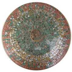 Mosaic lazy susan with Ammonite created by ZaZa! Designs....sold