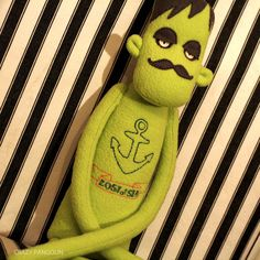 Drowned Sailor Zombie  Tattooed Plush Friend by crazypangolin, $50.00