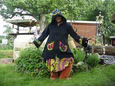 """Hippie-Mode - Elfenjacke """"Regenbogen"""" Wunschfarben- BIG HIPPIE - ein Designerstück von BigHippie bei DaWanda"""