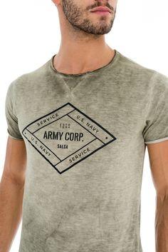 T-Shirt tema militar - Army Corp. - Salsa