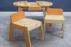 Kids' Art Table and Chairs - buildsomething.com
