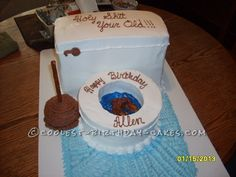 Just for Fun Adult Toilet Bowl Birthday Cake... Coolest Birthday Cake Ideas