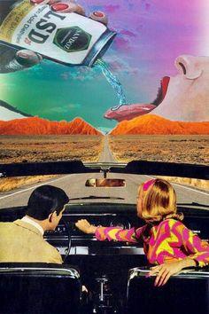 Couple in car LSD can 60's art