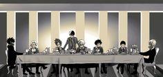 Boku no Hero Academia || Dabi, Kaminari Denki, Kirishima Eijirou, Todoroki Shouto, Katsuki Bakugou, Midoriya Izuku, Hanta Sero, Shigaraki Tomura.