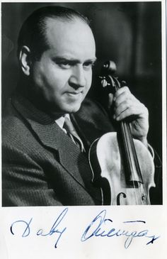 A beautiful Autographed picture of David Oistrakh, one the world greatest violinist