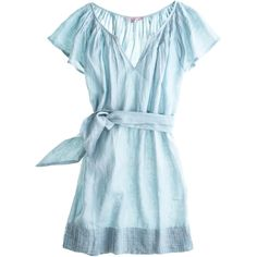 CALYPSO St. Barth Camille Linen Dress ($179) ❤ liked on Polyvore featuring dresses, blue, tops, vestidos, long linen dresses, long sheath dress, blue sheath dress, calypso st. barth and long blue dress