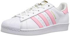 adidas Originals Women's Superstar W Fashion Sneaker, Whi...
