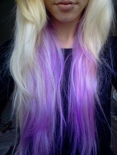 Nice purple and blond:)