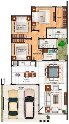 Modern home design Dream House Plans, Modern House Plans, Small House Plans, House Floor Plans, Home Design Plans, Plan Design, The Plan, How To Plan, Story House