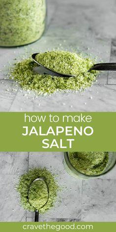 Jalapeno Recipes, No Salt Recipes, Jalapeno Ideas, Herb Recipes, Homemade Spices, Homemade Seasonings, Herb Salt Recipe, Spice Mixes, Spice Blends