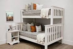 Styled for Bunk Beds – Beddy's Zip Up Bedding, Cotton Bedding, Make Your Bed, How To Make Bed, Euro Pillow Covers, Feather Pillows, Pillow Texture, Spare Room, Queen Beds