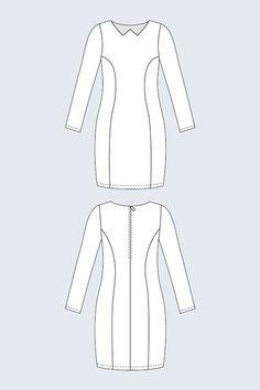 Aydan Collarless Dress - Named