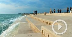 While many of us are content to listen to the natural sounds of ocean waves, architect Nikola Bašić took things a step further and faciliated a means for ocean currents to produce actual music. Behold: the Sea Organ. Constructed in 2005, the acoustic jetty spans some 230 feet (70 meters) and incor