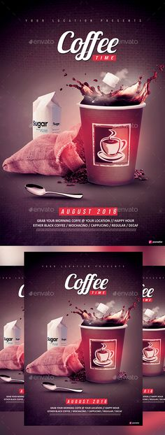Coffee Time - Events Flyers