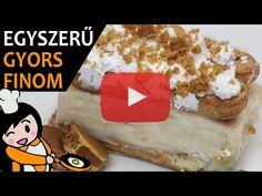Egyszerű karamellás babapiskótás szelet recept elkészítése videóval. A karamellás babapiskótás szelet elkészítését, részletes menetét leírás is segíti. Kakao, Creme, Make It Yourself, Food, Youtube, Tiramisu Recipe, Caramel, Simple, Essen
