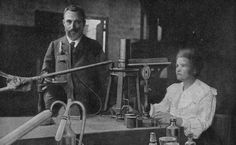 """Marie Curie  Curie was a physicist and chemist, and the first person to receive two Nobel prizes. She coined the term """"radioactivity"""", pioneered radiation therapy for cancer, and discovered two new elements. This shot is often cropped to remove Pierre Curie, the famous chemist's husband. Date: Unknown. Photographer: Unknown."""