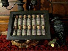 Witches Bark Box Set herb jars spells bark set by wmerchantile
