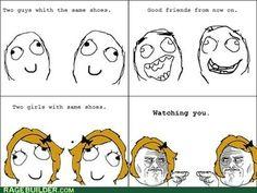 Guys vs. girls. l-o-l