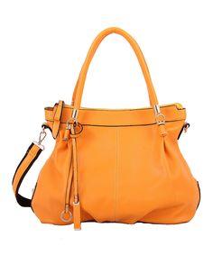 Look what I found on #zulily! Orange Winnie Satchel by Mellow World #zulilyfinds