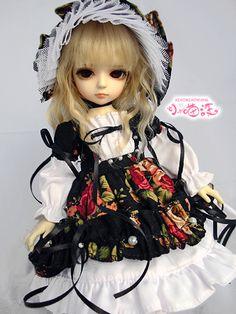 Baihua of the bjd BB Hua Liqiu models dress (black models. pirates weight!) - Taobao