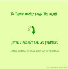 """Caro from France on Twitter: """"#Pronunciation and meaning of a #French #idiom: """"jeter l'argent par les fenêtres"""" #LearnFrench #FLE… """""""