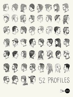52 Profiles Poster by kylesteed, via Flickr