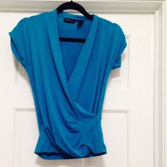 Draped, short sleeve top Draped, short sleeve top, can be dressed up with slacks or worn with jeans. In excellent condition. NY & Co. Tops