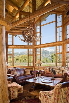 Teton Heritage Builders Custom Log Home Jackson Hole Wyoming