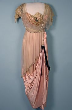 Evening dress by Paquin, ca 1913