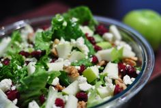 salad recipe with cranberries gorgonzola and walnuts