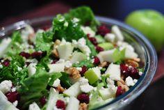 salad recipe with cranberries gorgonzola and walnuts