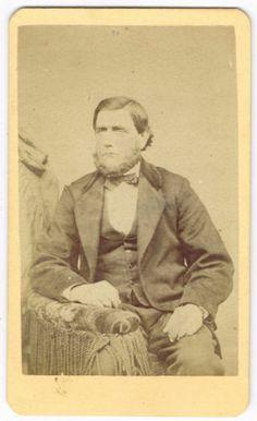 Bearded MAN IN Bethlehem Pennsylvania BY P Leidigh Gross 1870'S CDV | eBay