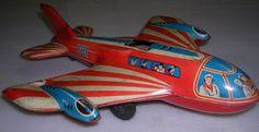 VINTAGE TOY TIN AIRPLANE TECHNOFIX WESTERN GERMANY Antique Toys, Vintage Toys, Vintage Antiques, 1980 Toys, Doll Toys, Dolls, Airplane Toys, Modern Toys, Oldies But Goodies