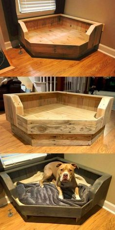 Der Lifestyle-Bereich mit Beziehungstipps Mode- und Beauty-Tricks mit Fitness Geschenke You are in the right place about diy halloween costumes Here we offer you the most beautiful pictu Pallet Dog Beds, Wood Dog Bed, Diy Dog Bed, Pallet Dog House, Pet Beds Diy, House Dog, Homemade Dog Bed, Wooden Pallet Beds, Wooden Pallet Projects