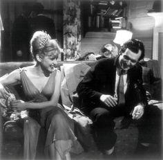 Sue Lyon and Stanley Kubrick on set of Lolita