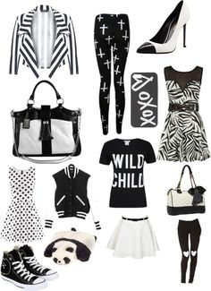 """""""Black & White"""" by amberm-1 ❤ liked on Polyvore"""