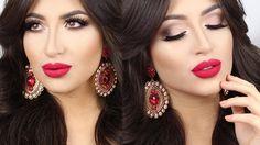 ♡ Soft Smokey Eye & Red Lips Holiday ♡ Make Up Tutorial | Melissa Samways