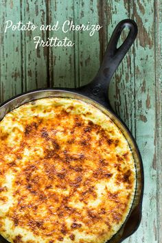 Potato and Chorizo Frittata - uses only 4 eggs and 2 egg whites for the lightest frittata! www.sidewalkshoes.com