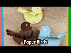 How to make paper Birds - simple craft activity for kids Thanks emilysteinle for this post. How to make paper Birds - simple craft activity for kids. Support my channel via Patreon and get acc Arts And Crafts For Teens, Easy Arts And Crafts, Spring Crafts For Kids, Paper Crafts For Kids, Easy Crafts For Kids, Craft Activities For Kids, Simple Crafts, Children Crafts, Bird Paper Craft