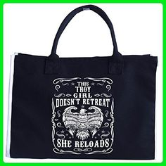 This Troy Girl Does Not Retreat She Reloads - Tote Bag - Top handle bags (*Amazon Partner-Link)