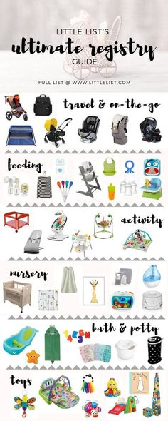 This list has all you need to register for your baby. Little List's Ultimate Registry Guide!