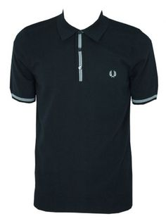 hot sale online 495a7 5f43d Fred Perry Tipped Knitted Polo Shirt