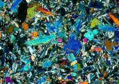 Union College Geology Department, Kurt Hollocher, Petrology course, lunar rocks and lunar thin sections, thin section images,  seen with cross polarized light 20X.