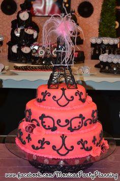 Cake at a Parisian Party #paris #partycake
