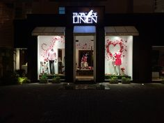 All Hearts on Valentines. Tropic Of Linen window display. DIY pink & red at TropicOfLinen