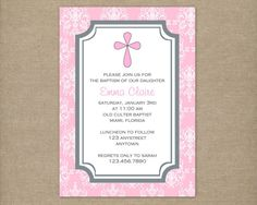 Custom Printable Pink Baby Girl Dedication by thepaperblossomshop, $8.00