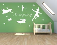 Cheap stickers for toy cars, Buy Quality stickers fridge directly from China sticker camera Suppliers: Peter Pan Wall Decal Vinyl Stickers - Baby Nursery Bedroom Wall Art Mural - Kids Wall Sticker Room Decoration Cartoon Home Decor Nursery Wall Stickers, Wall Stickers Murals, Vinyl Wall Decals, Playroom Mural, Mural Wall Art, Baby Girl Nursery Themes, Baby Boy Nurseries, Nursery Ideas, Room Ideas