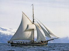 Mathilde, built in 1884 and still sailing on the Hardanger fjord, Norway.