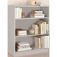 Buy HOME Maine Small Extra Deep Bookcase - Putty at Argos.co.uk - Your Online Shop for Bookcases and shelving units, Living room furniture, Home and garden.